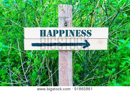 Happiness Directional Sign