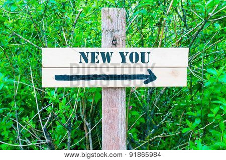 New You Directional Sign