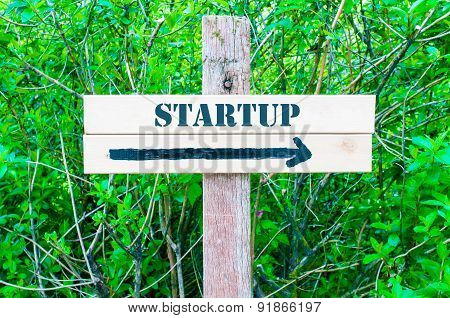 Startup Directional Sign