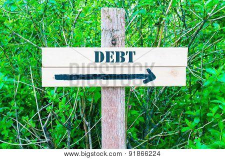 Debt Directional Sign