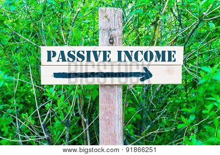 Passive Income Directional Sign