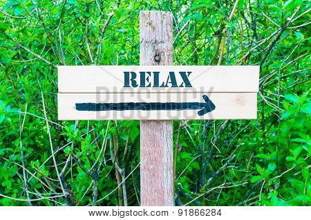 Relax Directional Sign