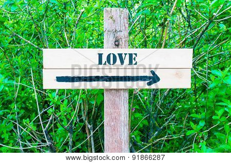 Love Directional Sign