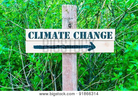 Climate Change Directional Sign