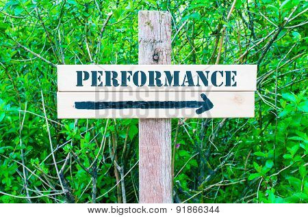 Performance Directional Sign