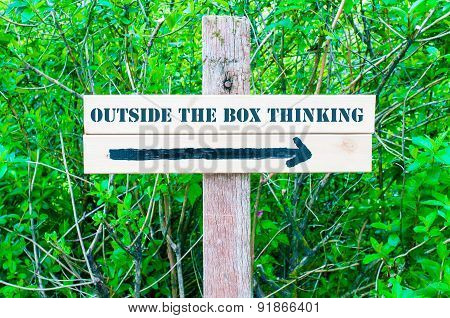 Outside The Box Thinking Directional Sign