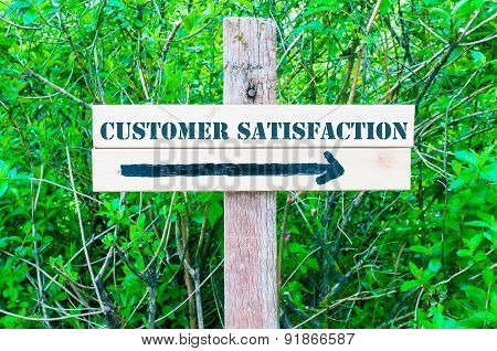 Customer Satisfaction Directional Sign