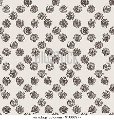 Vector seamless pattern of the curve scrolling lines