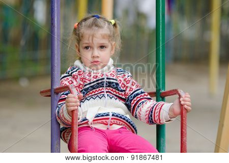 Offended By The Girl On Swing Does Not Want To Go Home