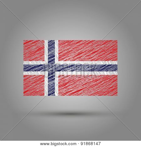 Flag of Norway. Light grunge effect.