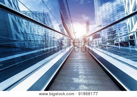 fast escalator and sunbeam