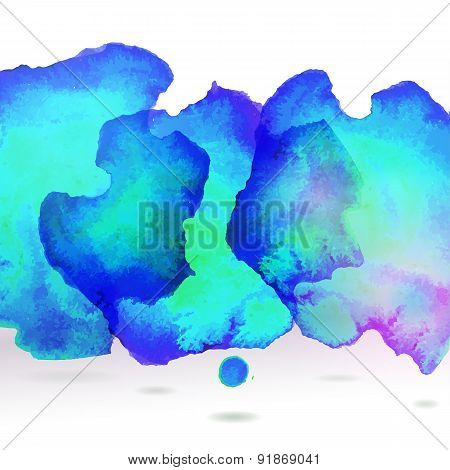Ice Blue Centered Decorative Watercolor Background