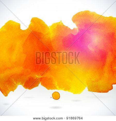 Orange Centered Decorative Watercolor Background