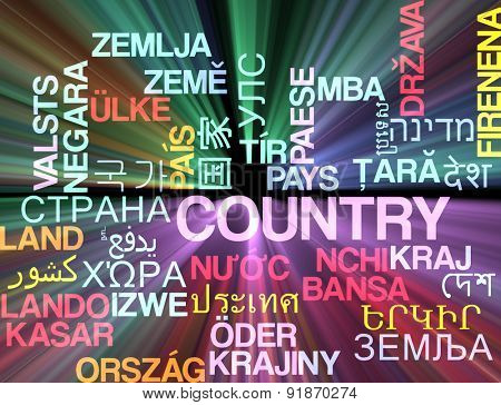 Background concept wordcloud multilanguage international many language illustration of country glowing light