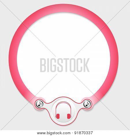 Pink Circular Frame