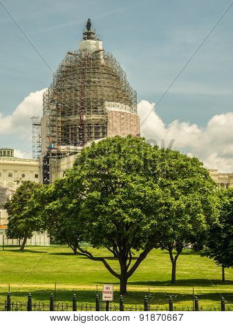 US Capitol Dome in Scaffolding