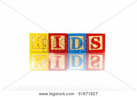 Alphabet Blocks Spelling The Word Kids