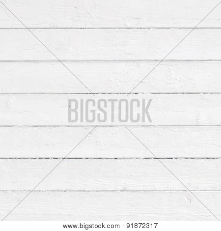 White painted wall, fence, floor, table surface. Wooden texture. Vector illustration