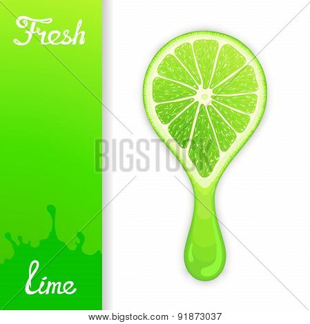 Lime crush juice