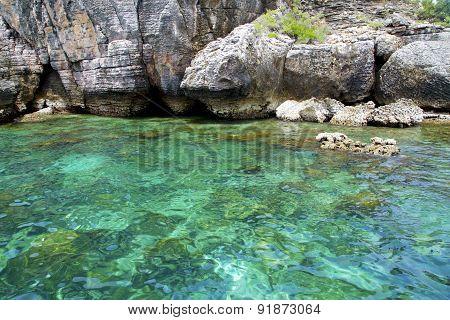Asia In The  Kho Phangan Isles Bay   Rocks      And South China Green Sea