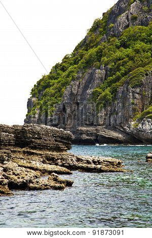 Blue Lagoon  Stone In Thailand Kho Phangan     Sea