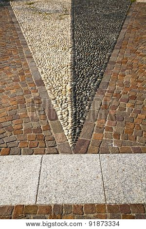 Near Mozzate Street   Varese Abstract   Pavement Of A Curch  Wall Marble
