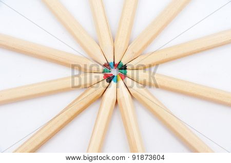 Many Of The Same Pencils With Different Color
