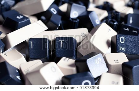 It Help, Pile Of Black And White Computer Keyboard Keys