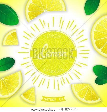 Fresh lemon vitamins