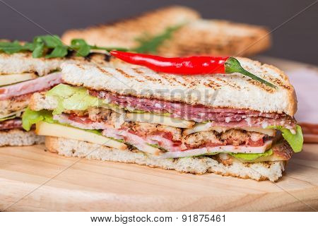 Freshly Made Club Sandwiches