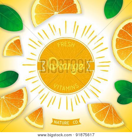 Fresh orange vitamins