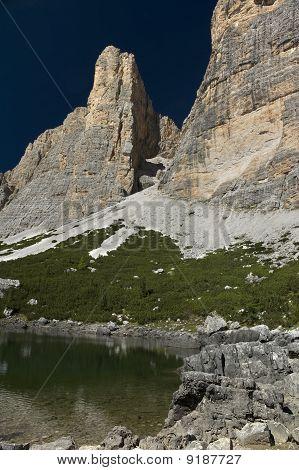 Lake Near The Rock