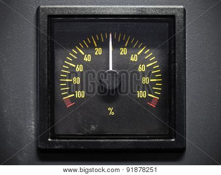 Pitch Indicator Scale, Selective Focus, Front View