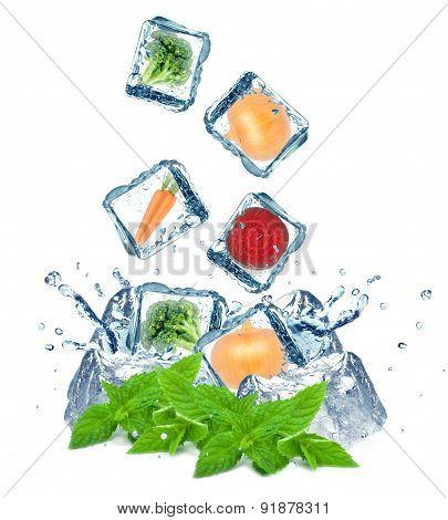 vegetables splash