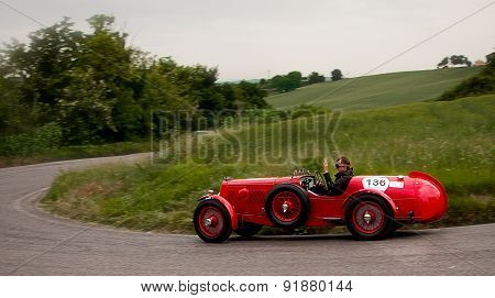 old car ASTON MARTIN 15 98 1938 mille miglia 2015