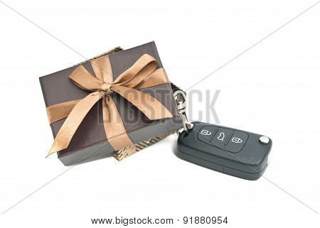 Brown Gift Box And Keys