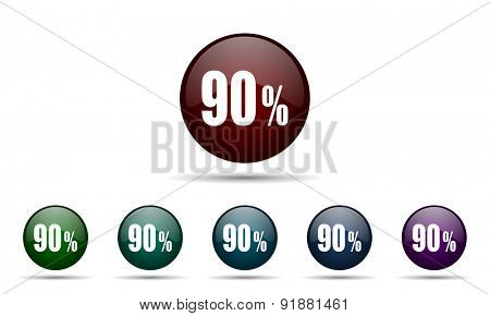 90 percent icon sale sign
