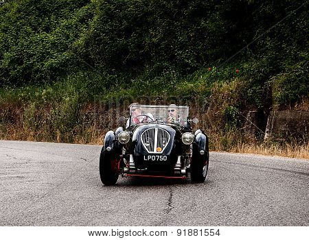 old car HEALEY  2400 Silverstone  1950   mille miglia 2015
