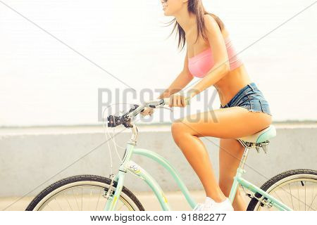 Beauty Riding Bicycle.