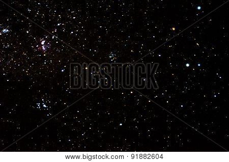 Beautiful african night sky and many stars, galaxy background