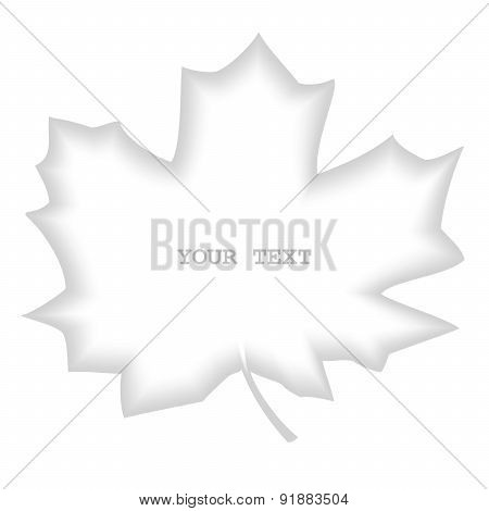 Shaded divider maple leaf