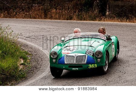 old car MG  MG A  1955   mille miglia 2015