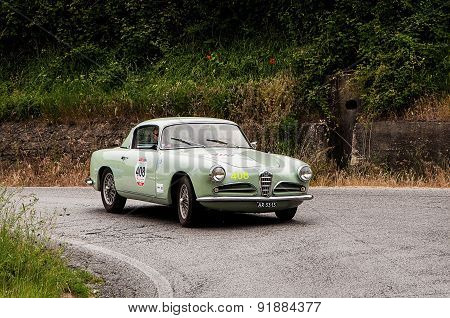 old car ALFA ROMEO 1900 C Super Sprint Touring 1956   mille miglia 2015