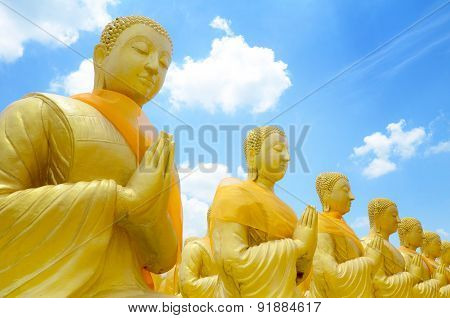 Statue Of Saint Priest In Buddhism.