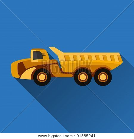 Articulated Hauler Flat Icon