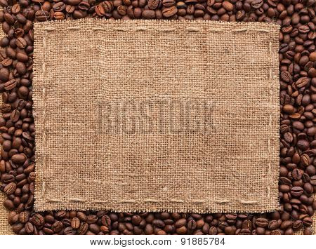 Classical Frame On Coffee Beans