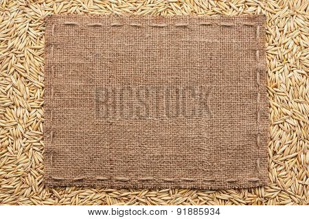 Classical Frame On Oats Grain