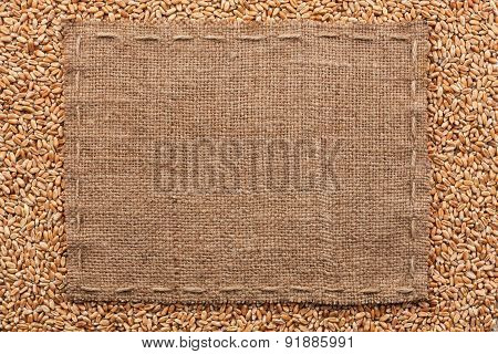Classical Frame On Wheat Grain