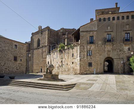 St Nicolas Square In Plasencia, Caceres. Spain