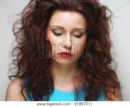 Portrait of dissatisfied young woman
